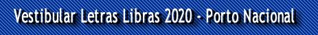 Vestibular Letras Libras 2020